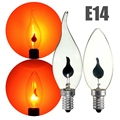 Vintage Edison la Bombilla de E14 3 W LED Lámpara Ahorro de energía fuego Llama Vela Bombillas de la Lámpara de Cola Home Bar Decoración Iluminación 220 V