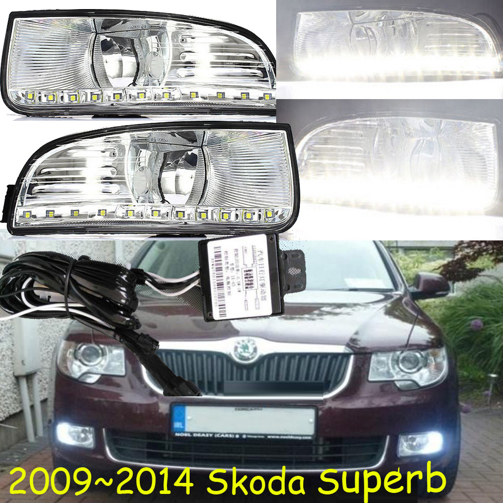 Skod Superb daytime light;2009~2013 Free ship!LED,Superb fog light,2pcs/set;Magotan,passat,Octavia,yeti,Superb 3TD 941 431 1pc original afs leistungs module 3td941329 3td 941 329 genuine and used