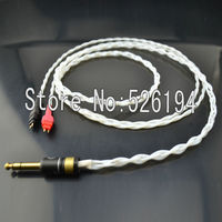 Free Shipping 1 5 Meter Pure Silver Teflon Handmade HD650 HD600 HD580 HD525 Headphone Upgrade Cable