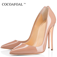 COCOAFOAL Sexy Woman High Heels Shoes Wedding Bridal Heel Shoes Women's Party Plus Size Pointed Toe Pumps Party Stiletto