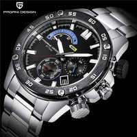 Montres pour hommes d'affaires en acier inoxydable étanche sport PAGANI DESIGN montre à Quartz chronographe de marque de luxe Relogio Masculino