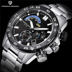 Business Stainless Steel Waterproof Sports Men's Watches PAGANI DESIGN Luxury Brand Chronograph Quartz Watch Relogio Masculino