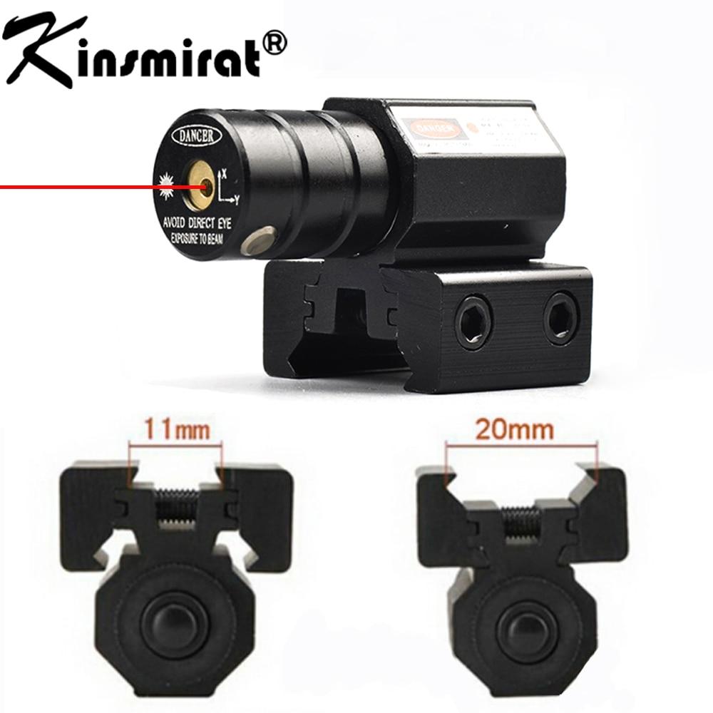 Red Dot Laser Sight Taktisk 50-100 Meter Range 635-655nm Pistol För 11mm 20mm Picatinny Rail (Batteri ingår ej)