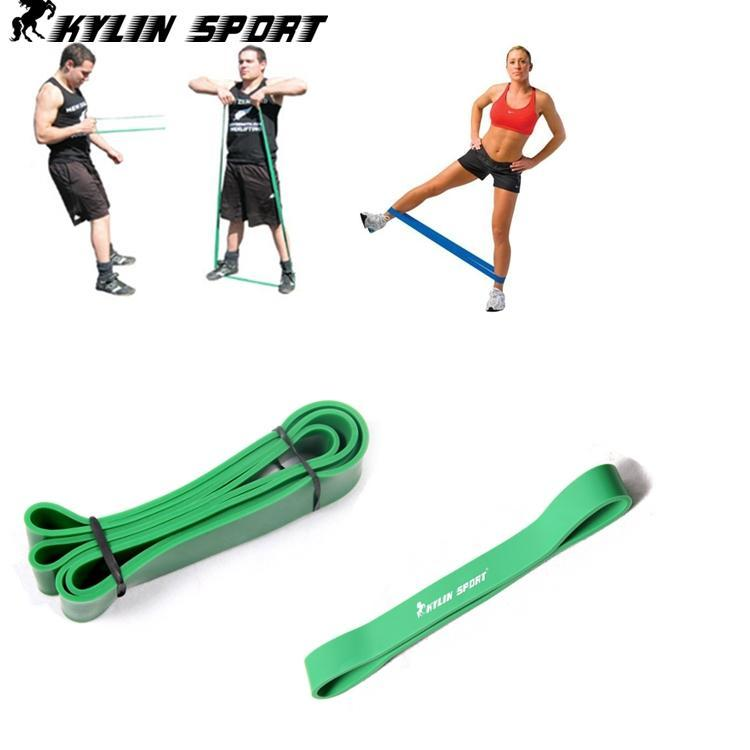 free shipping 2 elastic tension green exercise rubber