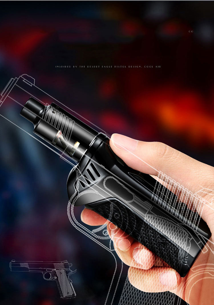 , E-Cigarette Power 20W-100W Using 18650 Battery Electronic Cigarettes Vape Pen Box Mod Kit Hookah Vaper 0.5ohm 2.5ml Atomizer
