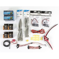 Power Combo for MyTwinDream 1800mm FPV Plane =for your easy build, including the motors, ESCs, Propellers, Servos and Cables etc