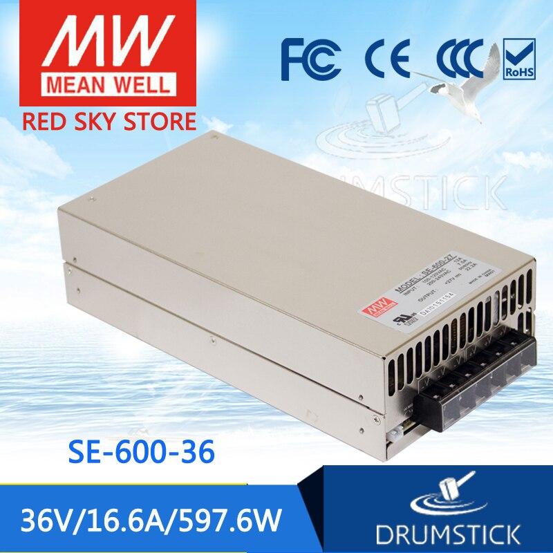 (12.12)MEAN WELL original SE-600-36 36V 16.6A meanwell SE-600 36V 597.6W Single Output Power Supply mean well original se 1000 12 1000w 83 3a 12v single output meanwell power supply 3 years warranty