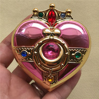 Cosplay Sailor Moon Tsukino Usagi Jewelry Box Heart Moon Makeup Powder Foundation Case Powder Make up Mirror Box