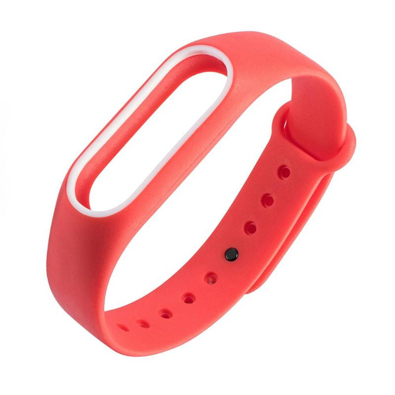 1Pcs 220mm Double Color Replacement Smart Bracelet Strap For Xiaomi Mi Band 2 Smart Watch Band Strap Wristband For Miband 2 Hot in Smart Accessories from Consumer Electronics