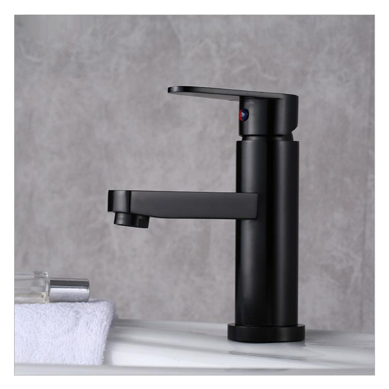 Luxury Bathroom Basin Faucet Space Aluminum Cold and Hot Water Mixer Tap Deck Mounted Single Handle Luxury Bathroom Basin Faucet Space Aluminum Cold and Hot Water Mixer Tap Deck Mounted Single Handle Crane Washbasin Sink Faucet