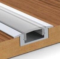 Nuevo Envío Gratis oferta Top Fashion barra Led de Perfil de aluminio Led superfino perfil aluminio empotrado