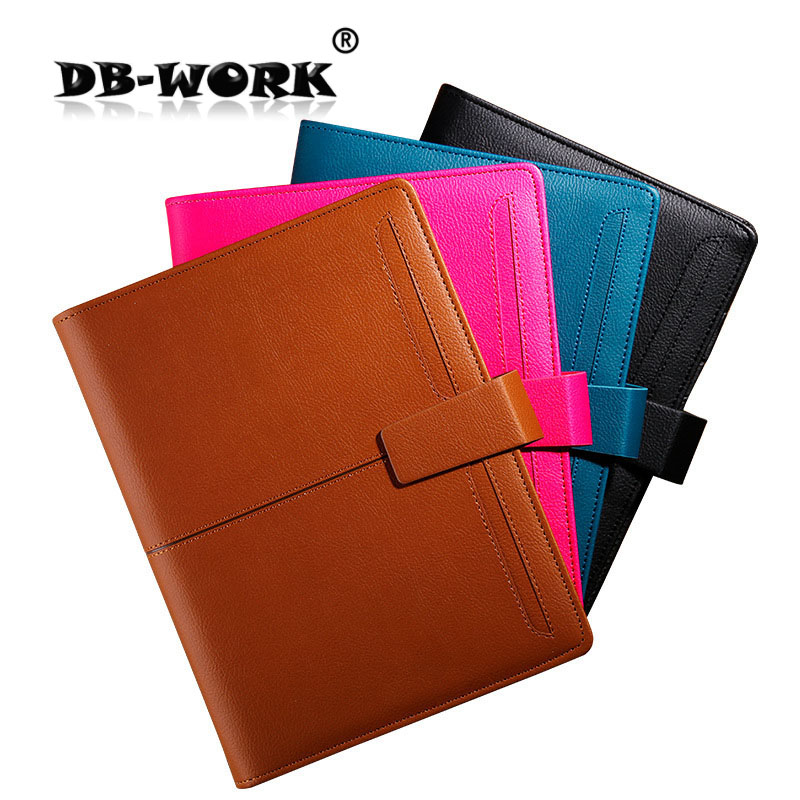 2018 A5 loose-leaf notebooks stationery business notebook leather diary book custom creative 6 holes Christmas gift цена