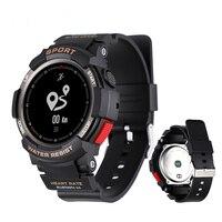 F6 Sport Smart watch IP68 Waterproof Heart Rate Fitness tracker Man Bluetooth Smartwatch Wearable Devices push Messenger
