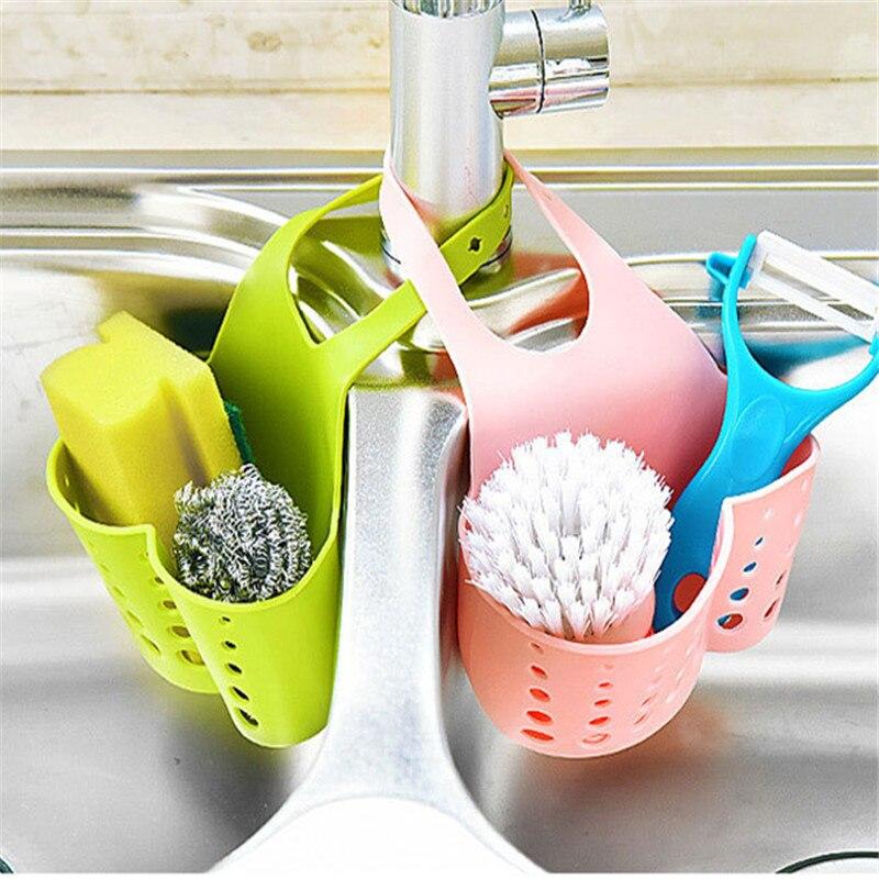 Hot Sale Portable Kitchen Hanging Drain Bag Basket Bath Storage Gadget Storage Bag Organizer Tools Sink Holder Freeshipping