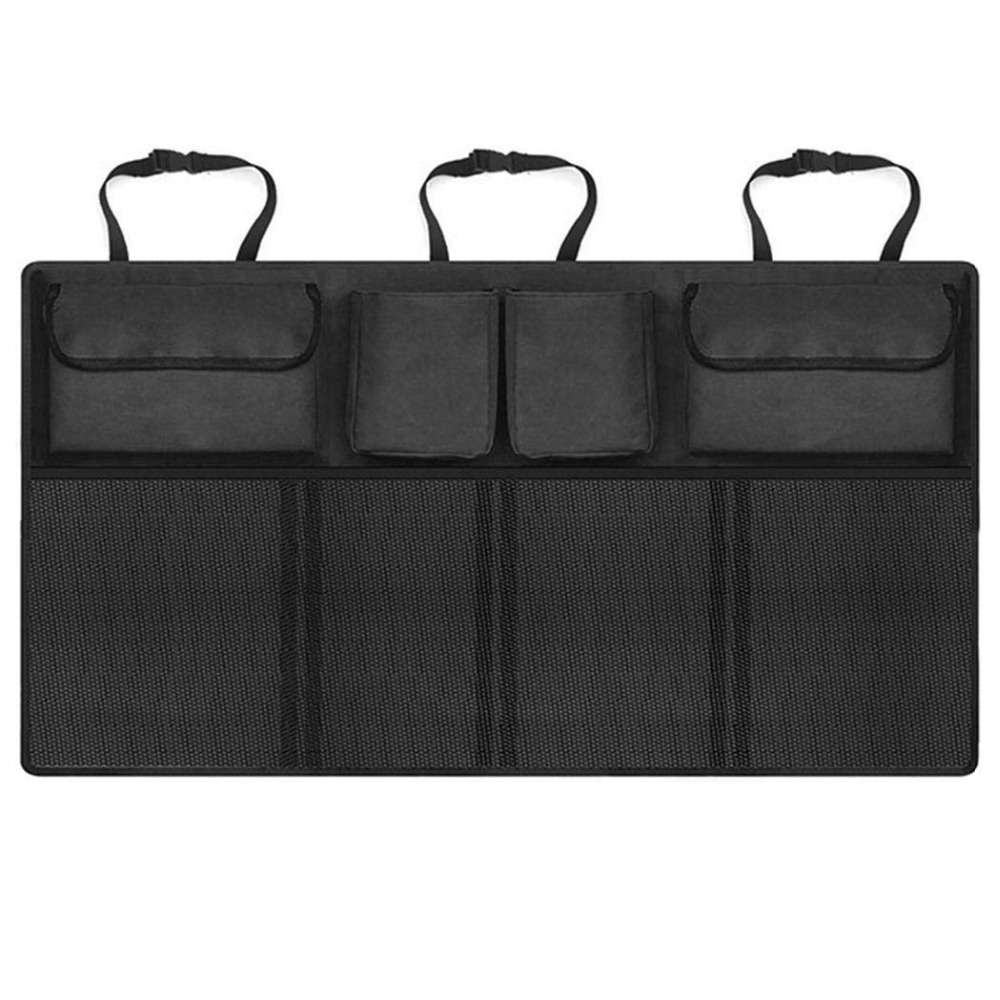 Universal Car Trunk Organizer Adjustable Backseat Storage Bag Net High Capacity Multi-use Oxford Automobile Seat Back Organizers