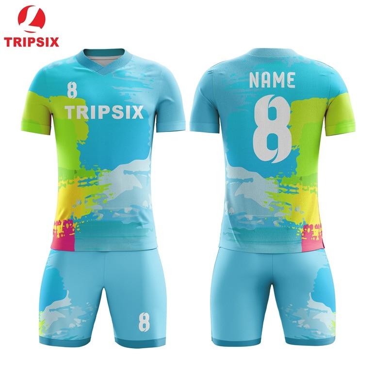 Maillot de Football personnalisé Unique maillot de l'équipe personnaliser maillot de Football chemises Voetbal impression gratuite Logo numéro tout modèle