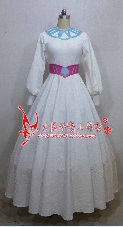 Saint Seiya Hiruda soeur Fleur Anime robe sur mesure Costume Cosplay