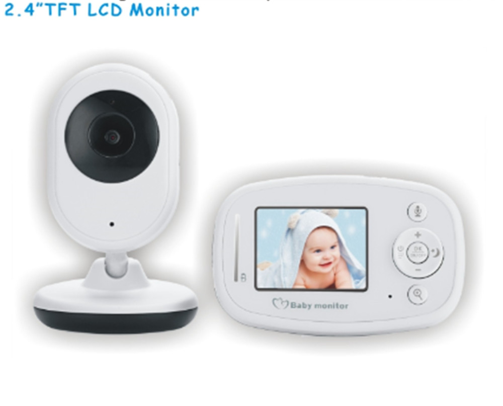 2.4 Inch Wireless Digital Two Way Intercom Baby Monitor Temperature Display