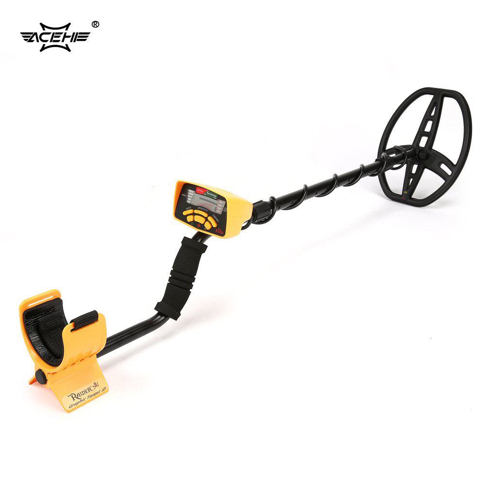 ACEHE LCD Display Underground Metal Detector MD6350 Professional Handheld Treasure Hunter Gold Digger Finder With Headphone