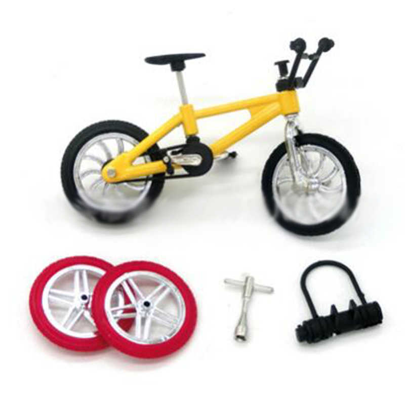 Fingerboard Bicycle Toys With Brake Rope Simulation Alloy Finger Bike Children Gift 1 Sets  Mini bicycle/tools/lock/tire