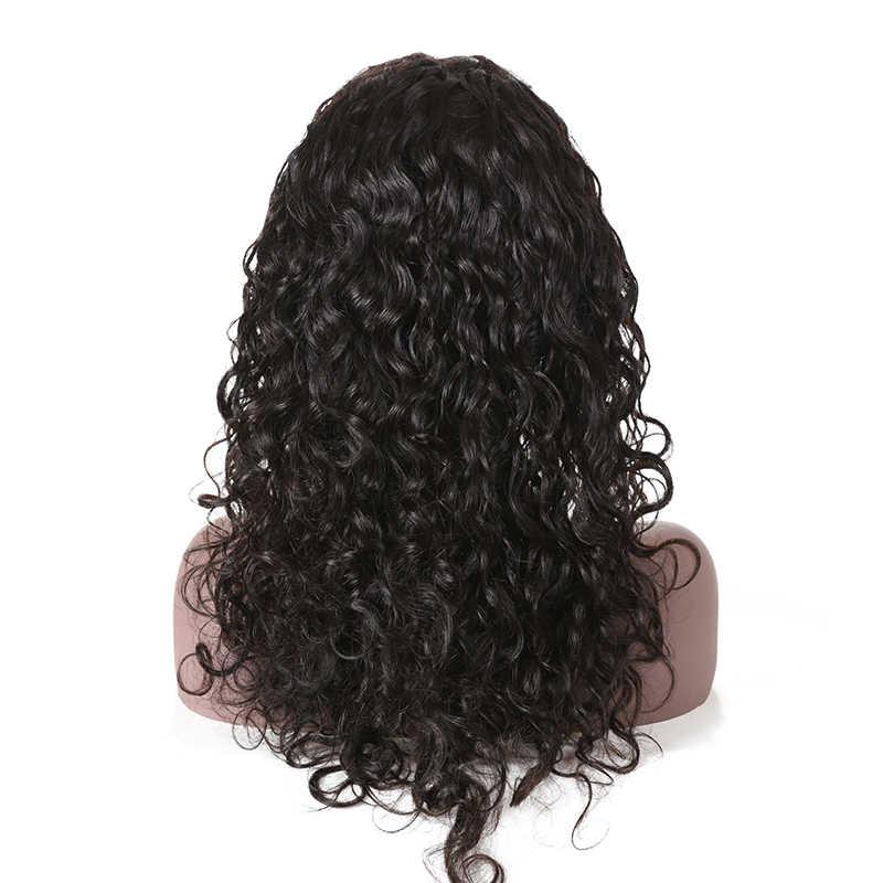 Ali Fumi queen предварительно сорванные натуральные волнистые полные парики шнурка с волосами младенца бразильские волосы remy натуральный цвет полные парики шнурка