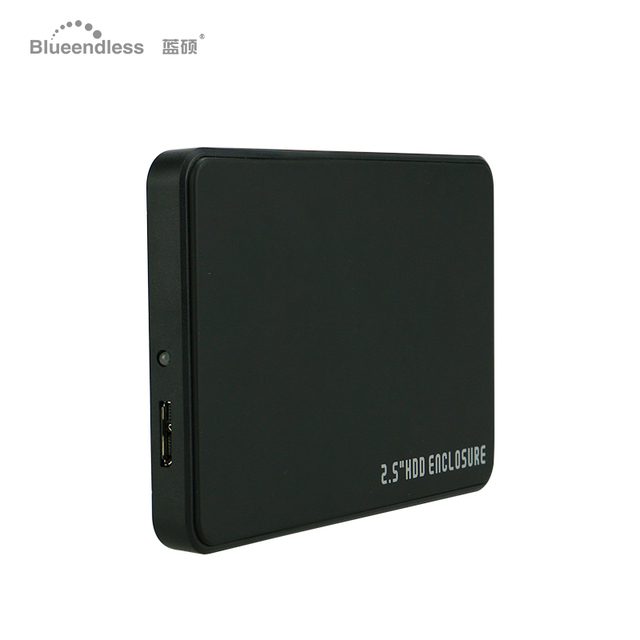 Tool Free 2.5 Sata USB 3.0 Hard Disk Enclosure for 7.5/9MM Hard disk SSD Disk HDD Case plastic Blueendless HDD SSD cover
