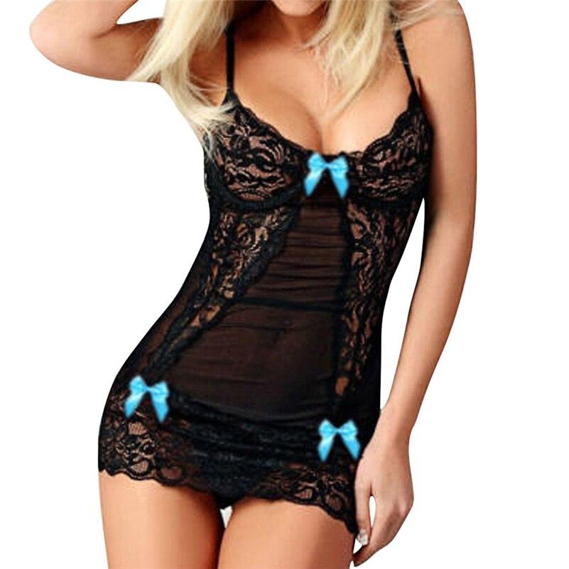 Sexy Sleepwear Women Lingerie Hot Erotic Women Bow Lace Racy Underwear Spice Suit Temptation Sexy Underwear Women beauty gecelik
