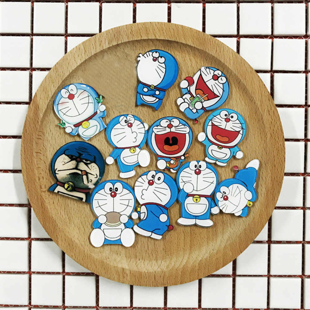 Hot Acrylic Brooches Cartoon Doraemon Movie Tribe Mix Brooches Backpack Student Clothes Brooches Pins Bag Decor Brooch Badge
