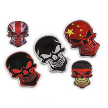 3D Car Stickers Metal Skull Doodle Decoration Personality Fuel Tank Sticker DIY Banner Car Motorcycle Accessories Auto Products(China)