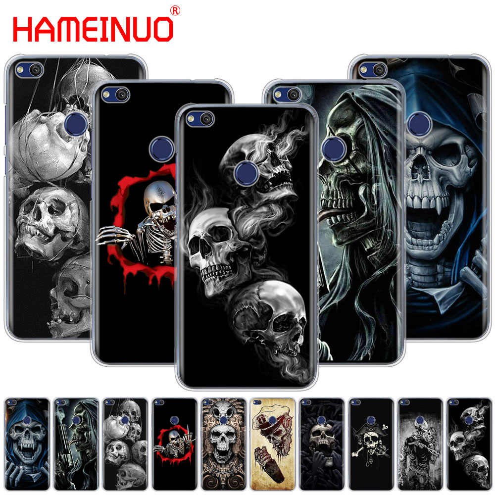 HAMEINUO Horror Skull Cover phone Case for huawei Ascend P7 P8 P9 P10 P20 lite plus pro G9 G8 G7 2017
