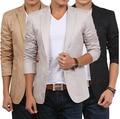 2016 Nuevo Estilo de diseño hombres de la moda Otoño Chaqueta de los hombres de algodón chaqueta de traje slim fit Chaqueta de Los Hombres blazer clásico para hombres ventas al por mayor