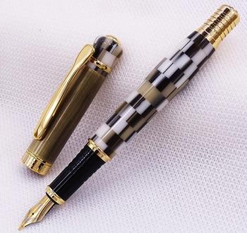 Kaigelu 316 / 336 Marble Celluloid Fountain Pen, 22KGP Medium Nib Beautiful Phantom Black-White / Blue / Borwn Pattern Gift Pen цена 2017