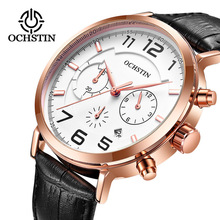 OCHSTIN Mens Watches Top Luxury Brand Date Chronograph Military Army Sport  Wristwatch Male Clock Casual Leather Quartz Watch curren top brand luxury mens watches steel date quartz watch men casual sport clock military army montre homme male wristwatch