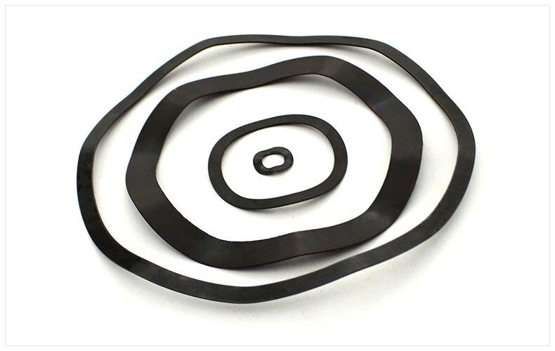 все цены на Wave spring washer 65Mn Carbon steel three wave crest M3 M4 M5 M6 M8 M10-M118 black wave gasket spring gasket Elastic washers онлайн