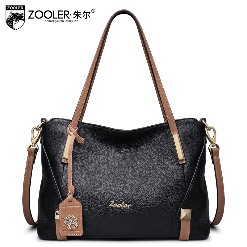 ZOOLER Women Casual Genuine Leather Bag Female Cowhide Large Capacity Bags Handbags Women Famous Brands All Match Messenger Bag zooler women genuine leather shoulder bags fashion leisure cowhide all match small messenger bag ladies casual bolsa feminina
