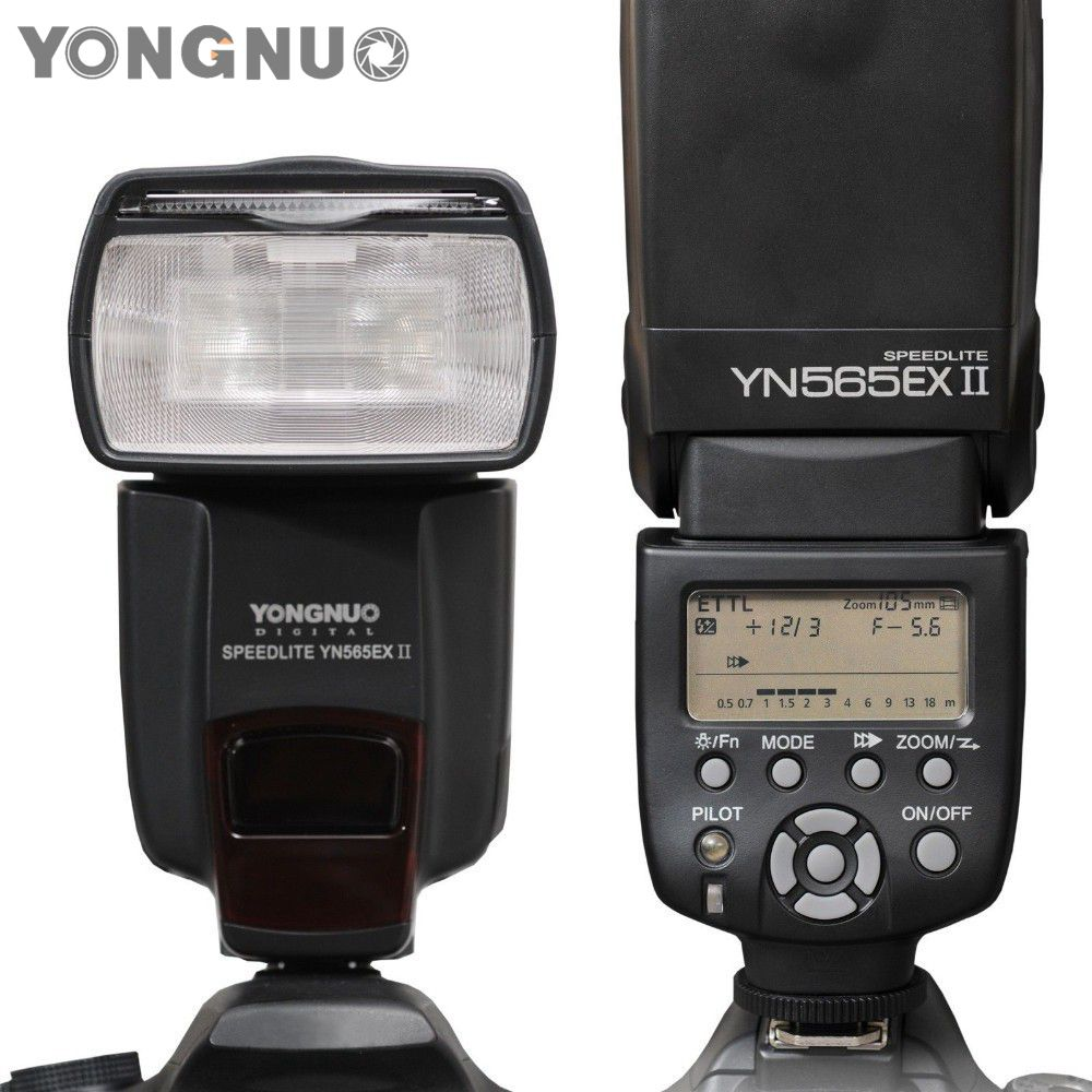 Yongnuo YN-565EX II YN 565EX II Wireless Flash Speedlite For Canon 6D 7D 70D 60D  600D XSi XTi T1i T2i T3 yongnuo yn600ex rt ii 2 4g wireless hss 1 8000s master ttl flash speedlite or yn e3 rt controller for canon 5d3 5d2 7d 6d 70d