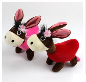 1 бр. Сладки магарешки плюшени играчки, бебешки коледни подаръци за деца