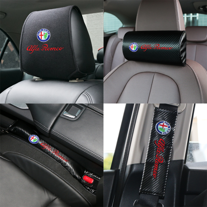 New Product Car Headrest Cover Fit For Alfa Romeo 159 147 156 Giulietta 147 159 Mito Giulia Stelvio