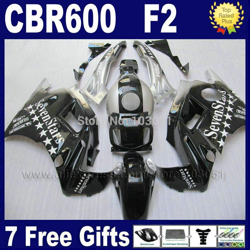 Fullset Motor fairings set for Honda 1993 1994 CBR 600 F2 1991 1992 CBR600 91 92 93 94 F2 CBR600 F sevenstars road fairing kits