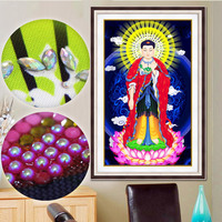 special shaped diamond painting embroidery beaded 5D diamante stickers muraux decorationTemple under sun shineBuddha religion