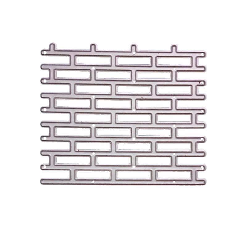 1Pc Frame Metal Cutting Dies Brick Wall Background Craft Scrapbooking Stencils