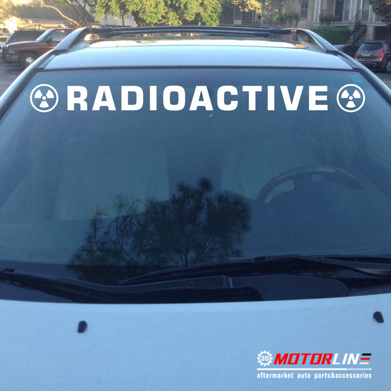 Radioactive Warning Nuclear Radiation Symbol Decal Sticker Car Vinyl
