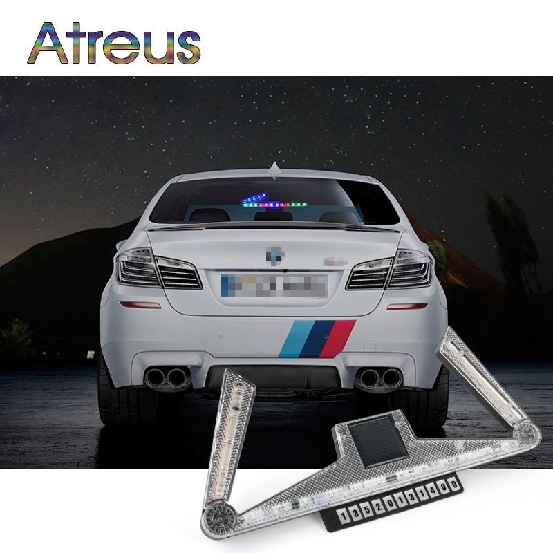 Atreus Car LED Strobe Light For Peugeot 307 Citroen c4 c5 Chevrolet cruze accessories Parking number stickers Solar warning lamp atreus car led license plate lights 12v for peugeot 307 308 407 207 3008 508 for citroen c4 c5 c3 accessories white smd led lamp