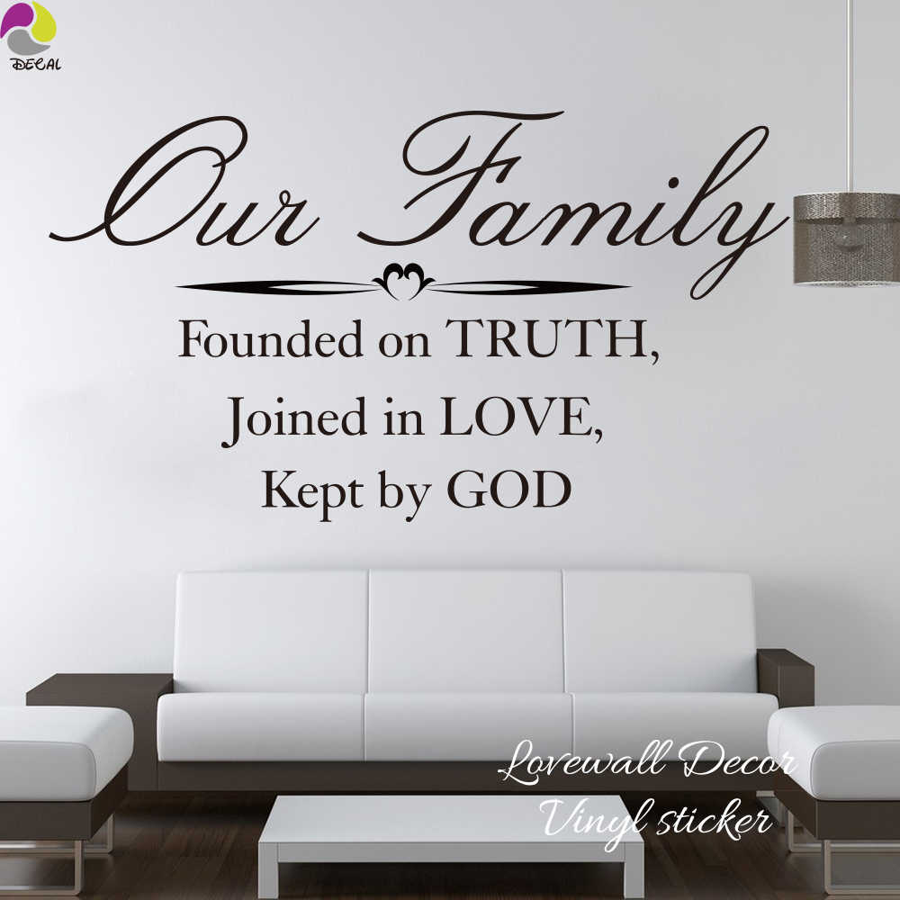 our family founded on truth joined in love kept by god bible verse