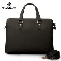 ManBang Genuine Leather Men Briefcare Brand High Quality Men S Business Handbags Real Leather Soft Men