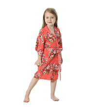 c4eb22a47 Orange Girl's Cotton Floral Kimono Flower Girl Getting Ready Robe For Wedding  Spa Party Bathrobe,. 7 Colors Available