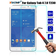 XSKEMP 9H Real Tempered Glass For Samsung Galaxy Tab 4 7.0 T230 T231 T235 Anti-Explosion Ultra Thin Tablet Screen Protector Film