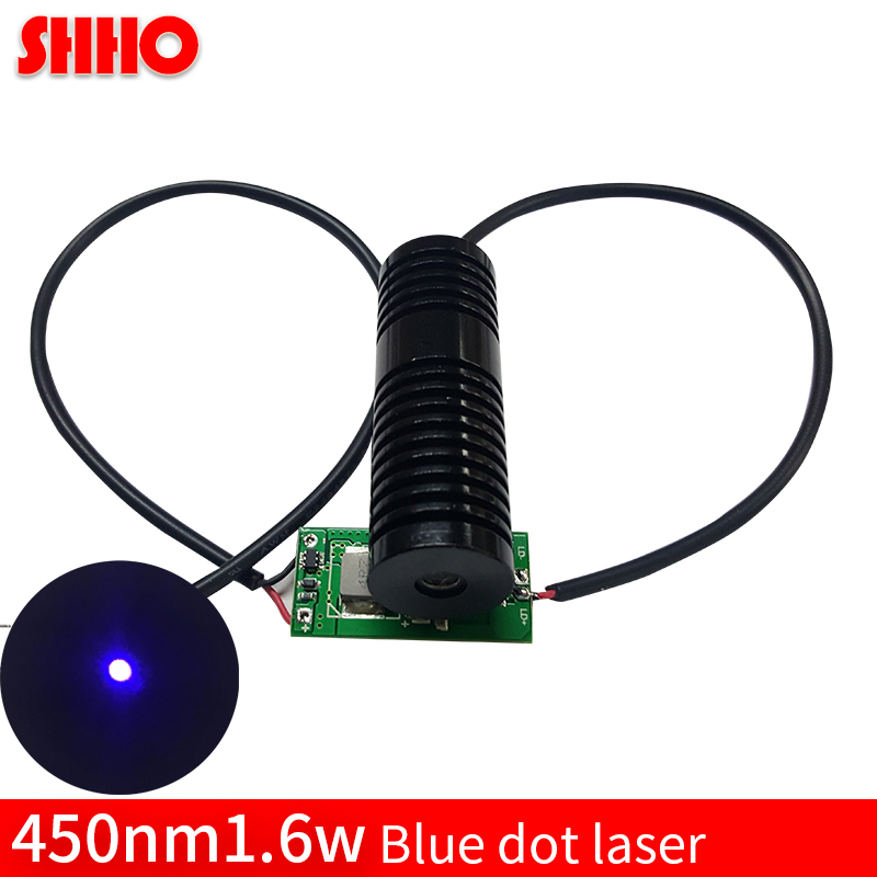 High power 450nm 1.6w blue dot laser module high quality wood carving engravers long distance sight blue point free shipping все цены