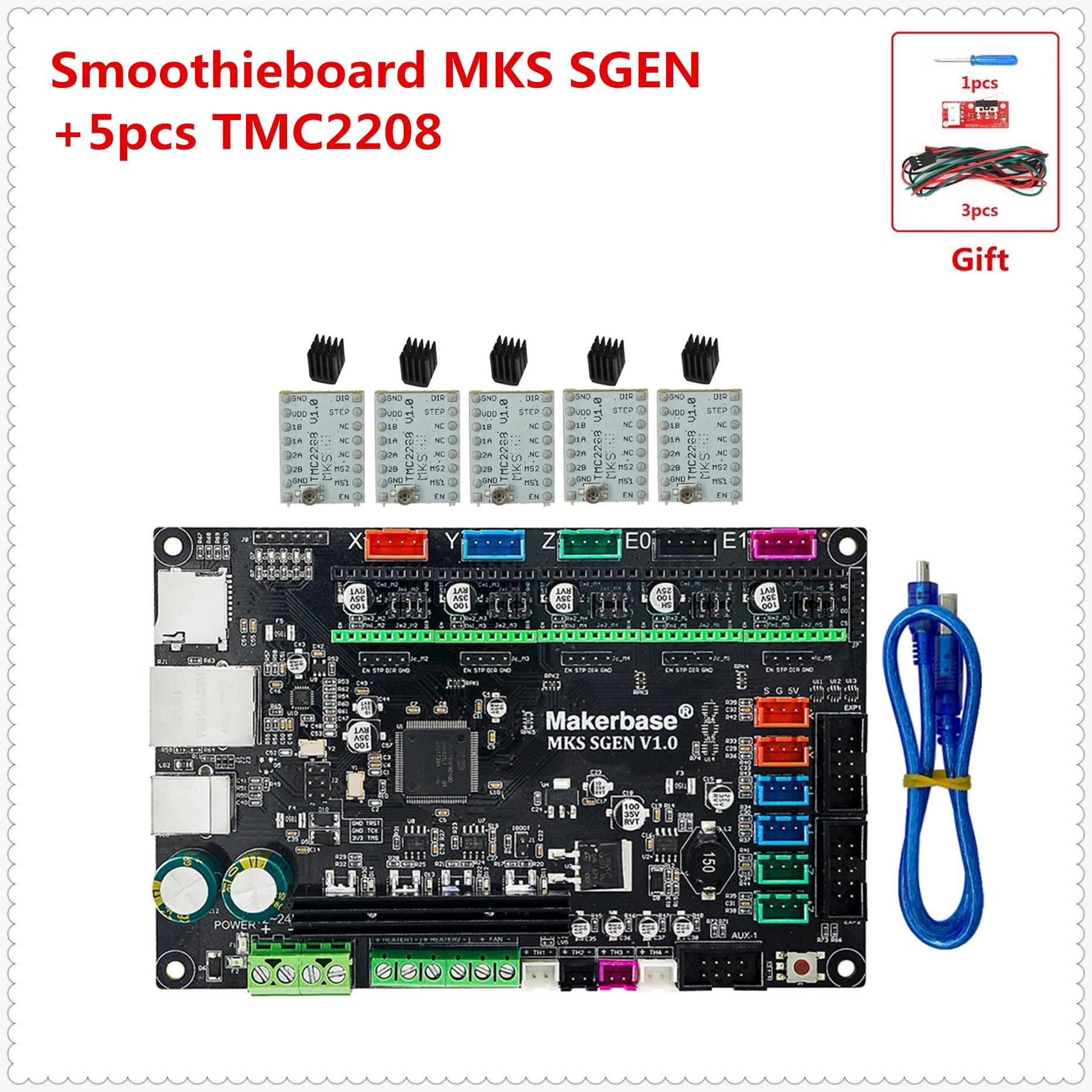 3d printer board MKS SGEN Smoothieboard support TMC2208 TMC2100 LV8729  DRV8825 A4988 tb6600 lv8727 stepper motor driver