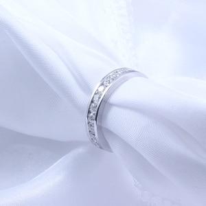 Image 4 - DovEggs 14K 585 Белое золото 1,6 карат ctw 2,5 мм Brillianct Lab выросший Муассанит с имитацией бриллианта свадебный браслет для женщин